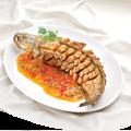 Cá lóc chiên xốt mận hương vị mới lạ hấp dẫn
